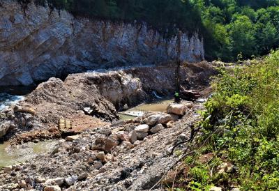Gradnja vodozahvata MHE Krupac