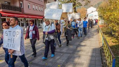 Protesti protiv gradnje MHE Zlate