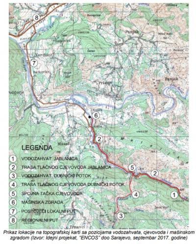 Prikaz lokacije na topografskoj karti