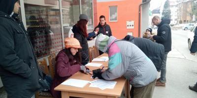 Potpisivanje peticije za spas rijeka Višegrada