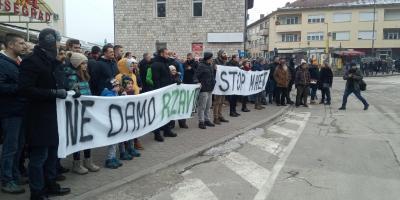 Protestna šetnja u Višegradu 18.01.2020