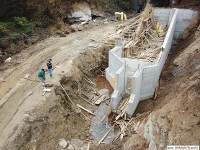 MHE Kaćuni - izgradnja vodozahvata