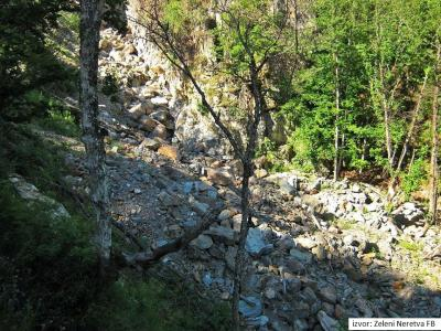 Korito rijeke Kraljuščice ispod vodozahvata