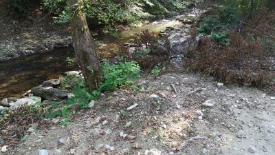 Lokacija planirane brane i vodozahvata MHE Toplica 3