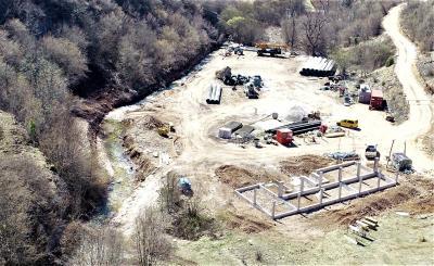 Gradnja MHE Hotovlje 16.04.2020