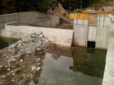 Izgradnja vodozahvata MHE Željeznica 4 - 2015 godina