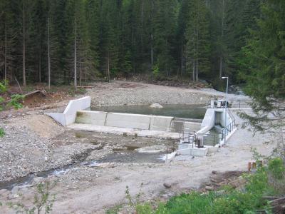 Vodozahvat MHE Jezernica 2006 godine